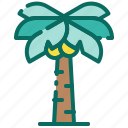 beach, coconut tree, holiday, palm tree, recreation, summer, vacation icon