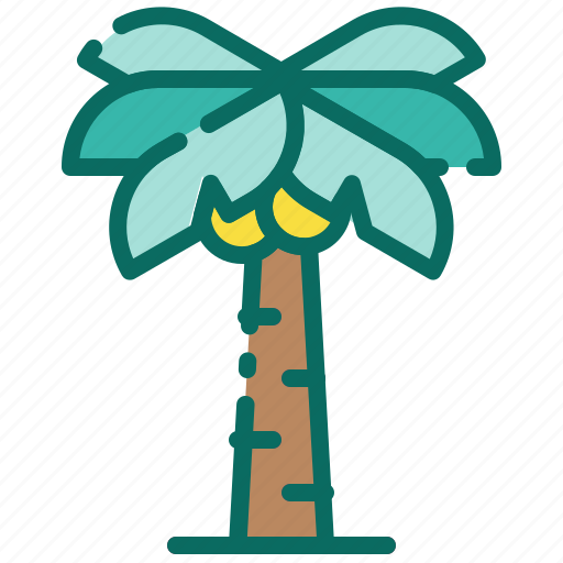 beach, coconut tree, holiday, palm tree, recreation, summer, vacation icon