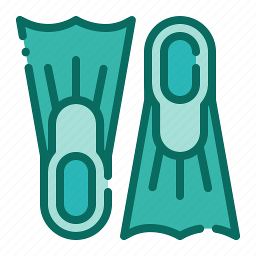 beach, diving, fins, flipper, holiday, summer, vacation icon