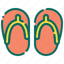 beach, flip flop, holiday, sandals, slippers, summer, vacation icon