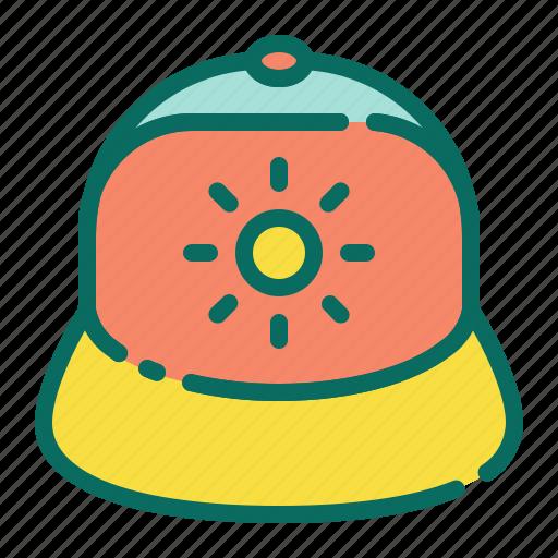 beach, cap, fashion, hat, holiday, summer, vacation icon