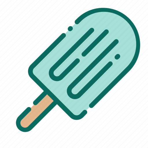 beach, cold, holiday, ice cream, popsicle, summer, vacation icon