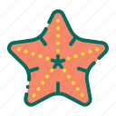 animal, beach, holiday, sea, starfish, summer, vacation icon