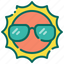 beach, holiday, shine, summer, sun, sunny, vacation icon