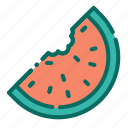 beach, fruit, fruit slice, holiday, summer, vacation, watermelon icon
