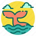 animal, beach, holiday, summer, tail, vacation, whale icon