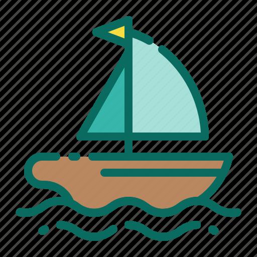 beach, boat, holiday, ship, summer, vacation, yacht icon