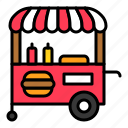 cart, fast food, food, food cart, holiday, summer icon