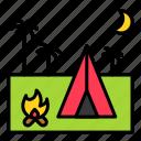 camp, camping, holiday, summer, tent