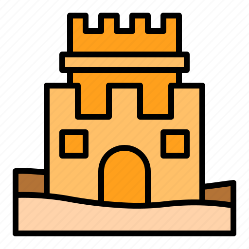castle, holiday, playground, sand, summer icon