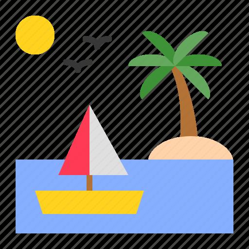 boat, holiday, sailing, summer, travel icon