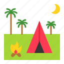 camp, camping, holiday, summer, tent icon