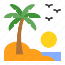 holiday, island, palm, summer, tropical, view