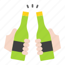 beer, bottle, cheers, drinks, holiday, summer icon