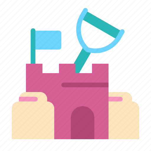 beach, castle sand, holiday, play, recreation, summer, vacation icon
