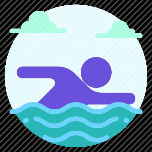 beach, holiday, summer, swim, swimmer, swimming, vacation icon