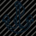 anchor, marine, nautical, ocean, sea, ship