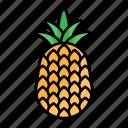 pineapple, food, fruit, healthy, natural, summer, summertime