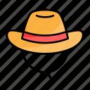 hat, summer, sun, beach, cap, cowboy hat