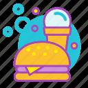 comfort food, fast, food, hamburger, ice-cream, junk, snacks icon