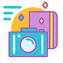capture, experience, holiday, log, memories, travel icon