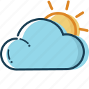 cloud, cloud icon, holiday, summer, summer icon, sun clouded, travel icon