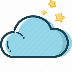cloud, holiday, star icon, summer, summer icon, travel, weather icon icon