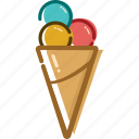 cold feeling, cool icon, holiday, ice cream, summer, summer icon, travel icon
