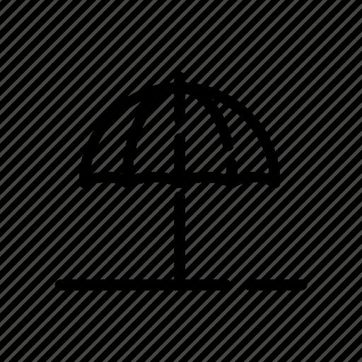 desert, holiday, parasol, shut off, summer, summer holiday icon