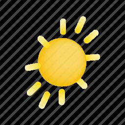 heat, hot, isometric, sun, sunburst, sunlight, sunshine icon