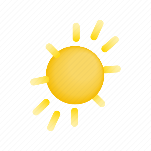 heat, hot, isometric, sun, sunburst, sunlight, sunshine icon