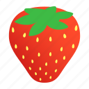 berry, food, isometric, red, ripe, strawberry, sweet icon