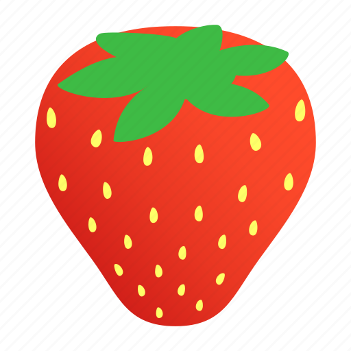 Berry, food, isometric, red, ripe, strawberry, sweet icon - Download on Iconfinder