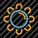 summer, sun icon