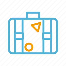 suitcase, summer icon