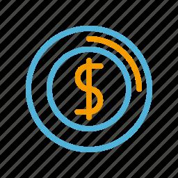 coin, summer icon
