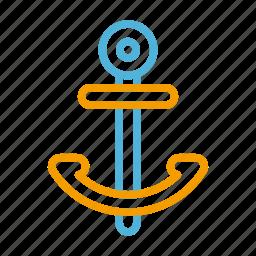 anchor, summer icon
