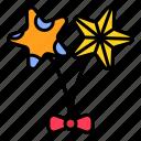 balloon, bow tie, celebration, party, summer icon