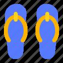 flip flops, party, sandals, summer icon