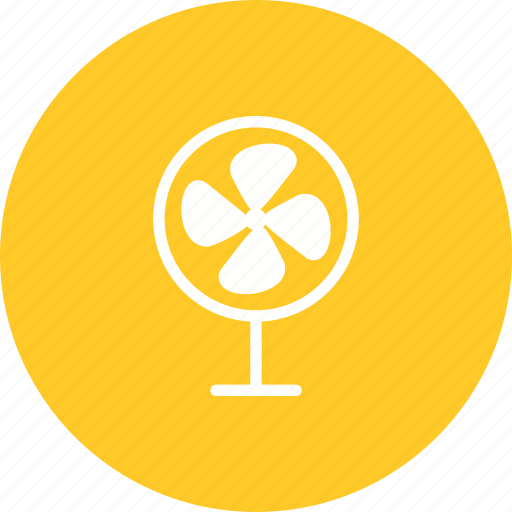 air, electric, equipment, fan, heat, summer, wind icon