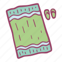 beah, summer, sunbath, towel, vacation icon