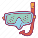 diving, mask, sea, snorkling, sport, summer, vacation icon