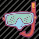 diving, mask, sea, snorkling, sport, summer, vacation