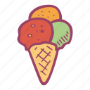 cold, cream, ice, ice cream, snack, summer, weet icon