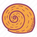 beach, shell, snail, summer icon