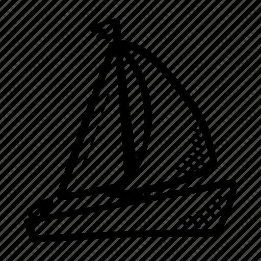boat, sea, summer, transportation icon