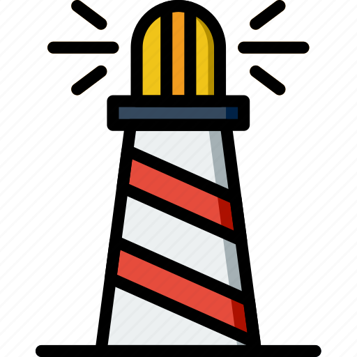 holiday, lighthouse, summer, vacation icon