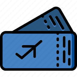 holiday, plane, summer, tickets, vacation icon