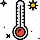 high, holiday, summer, temperature, vacation icon