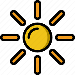 holiday, summer, sun, vacation icon